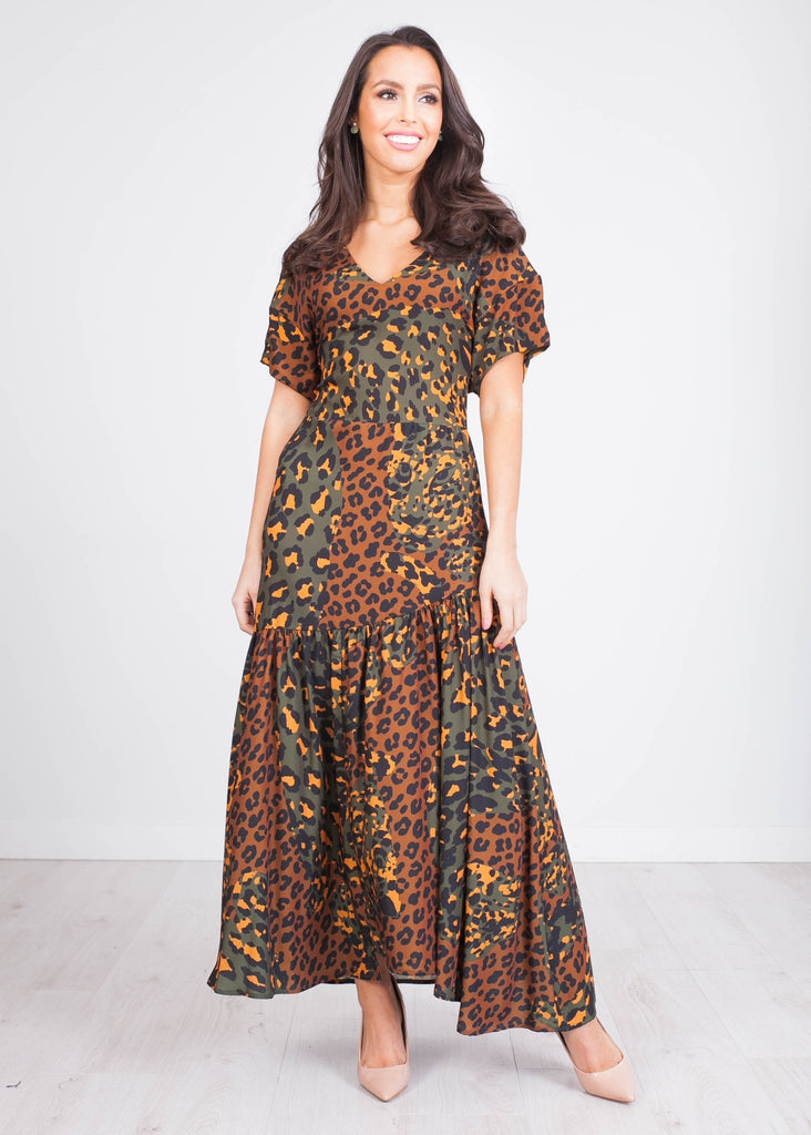 Sophia Animal Print Midi Dress - The Walk in Wardrobe