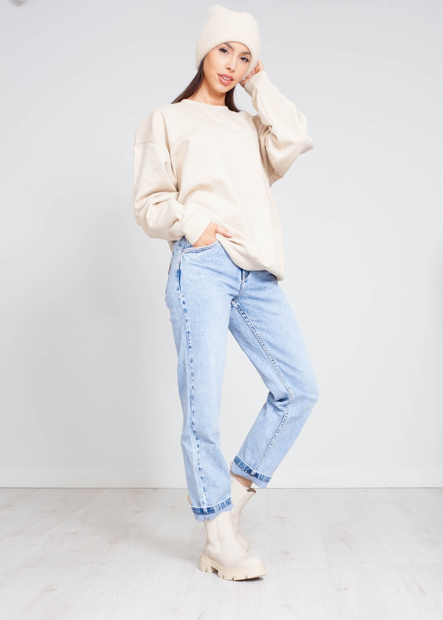 Stella Sweatshirt In Beige - The Walk in Wardrobe