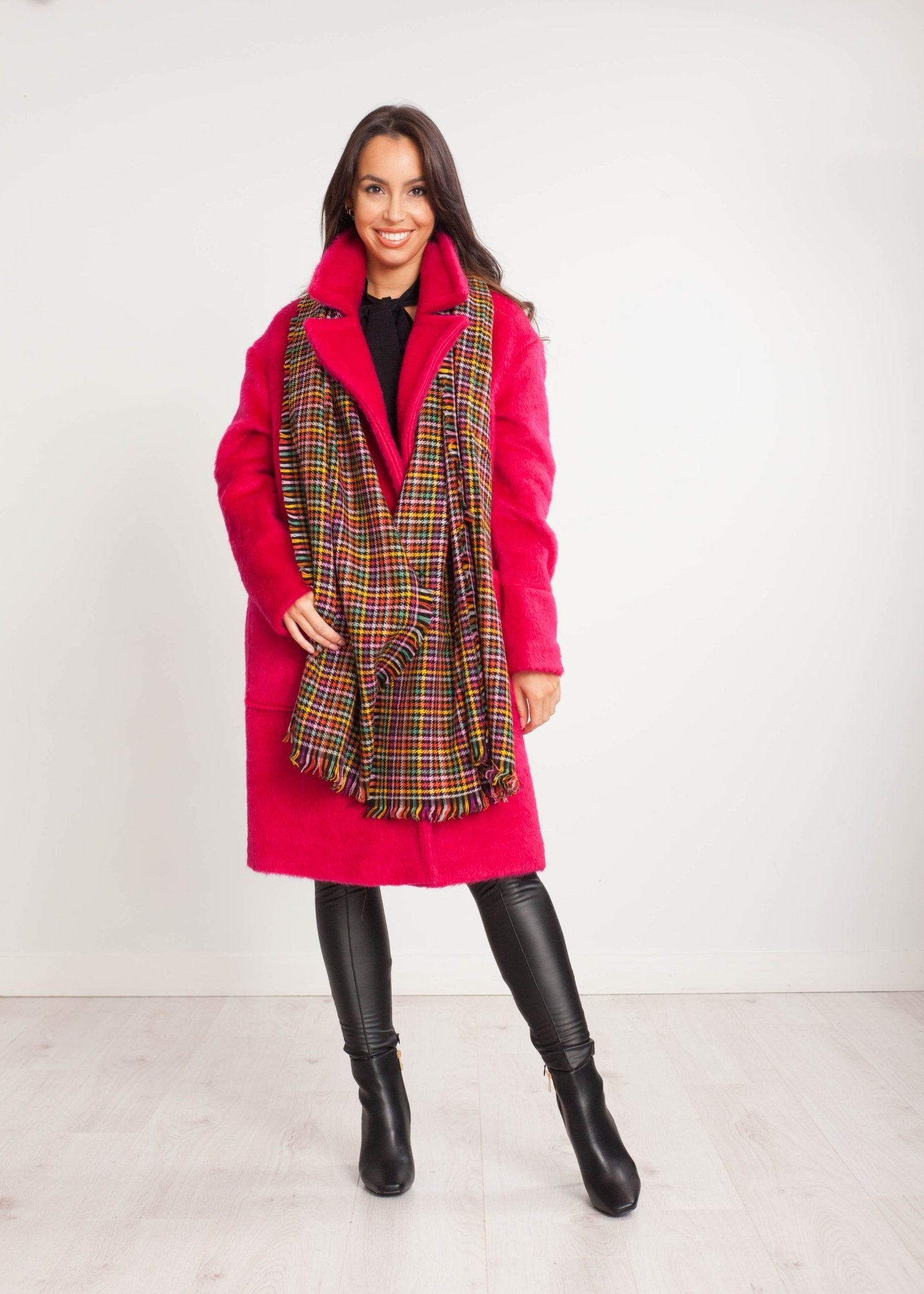 Tina Coat In Hot Pink - The Walk in Wardrobe