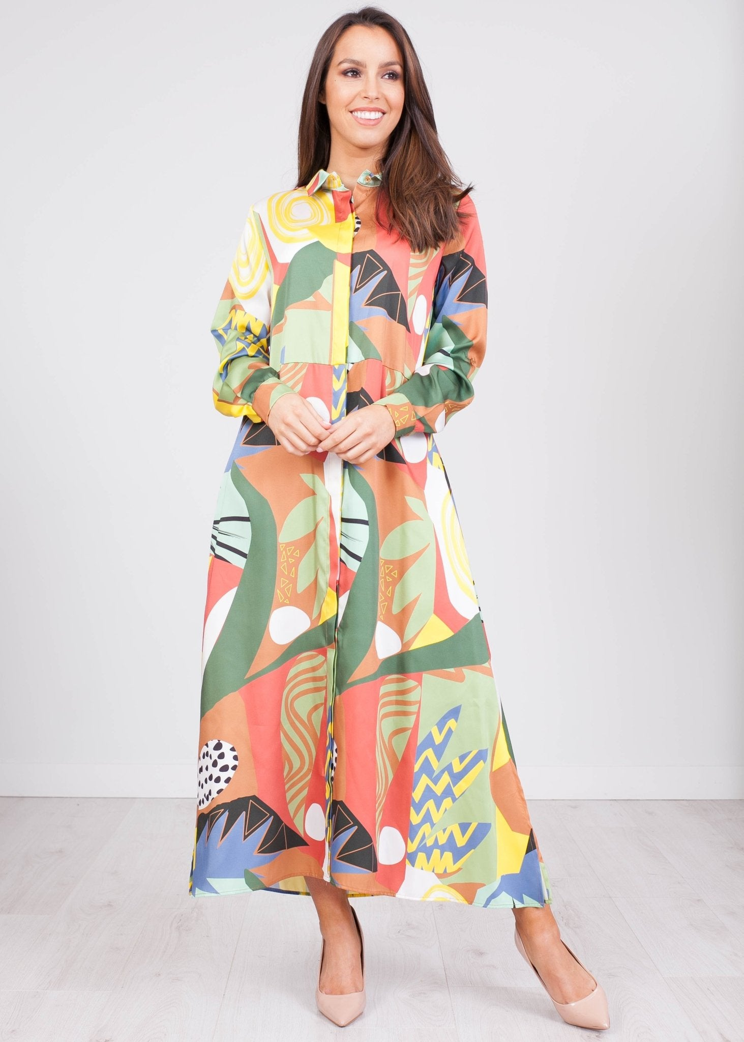 Tina Multiprint Shirt Dress - The Walk in Wardrobe