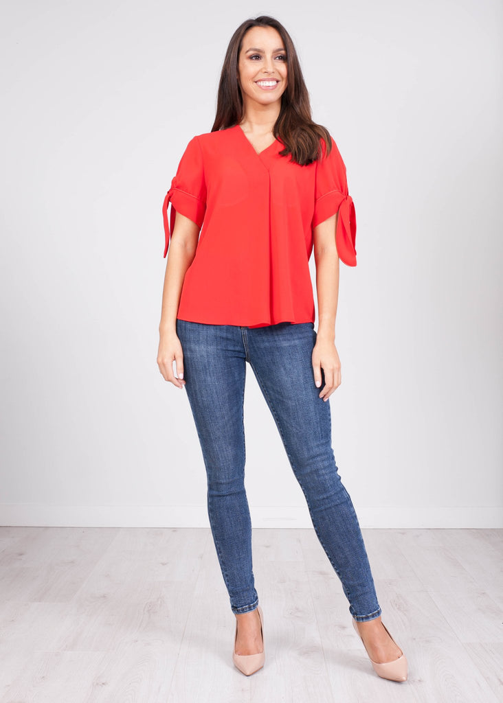 Tina Red Blouse - The Walk in Wardrobe