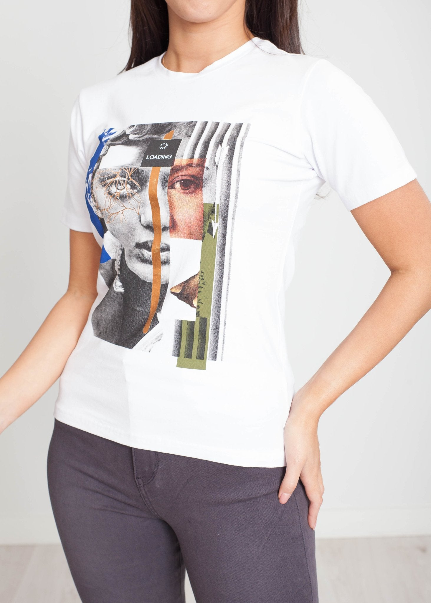 Tina T-Shirt With Face Print - The Walk in Wardrobe