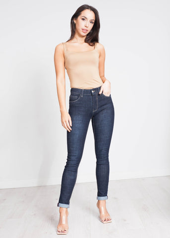 Willow Skinny Jean In Dark Wash - The Walk in Wardrobe