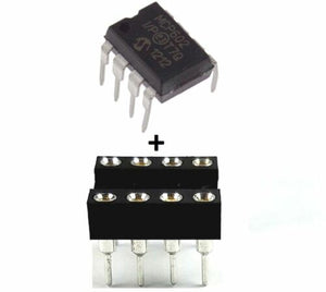Microchip MCP602-I/P MCP602 + Socket - Single Supply Dual CMOS Op Amp IC (1 Piece)