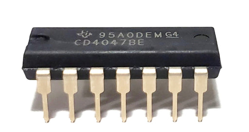 CD4047BE CD4047 CMOS Low-Power Mono/Astable Multivibrator DIP-14 Breadboard-Friendly IC
