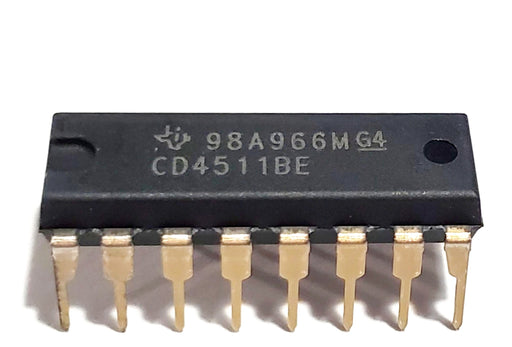 CD4511BE CD4511 CMOS BCD-to-7-Segment LED Latch Decoder