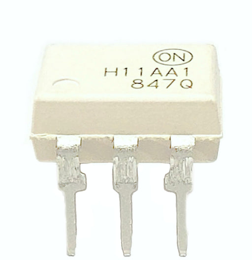 H11AA1M H11AA1 DIP-6 Through Hole AC Input Phototransistor Base DC Output Optocoupler 6-Pin Breadboard-Friendly IC
