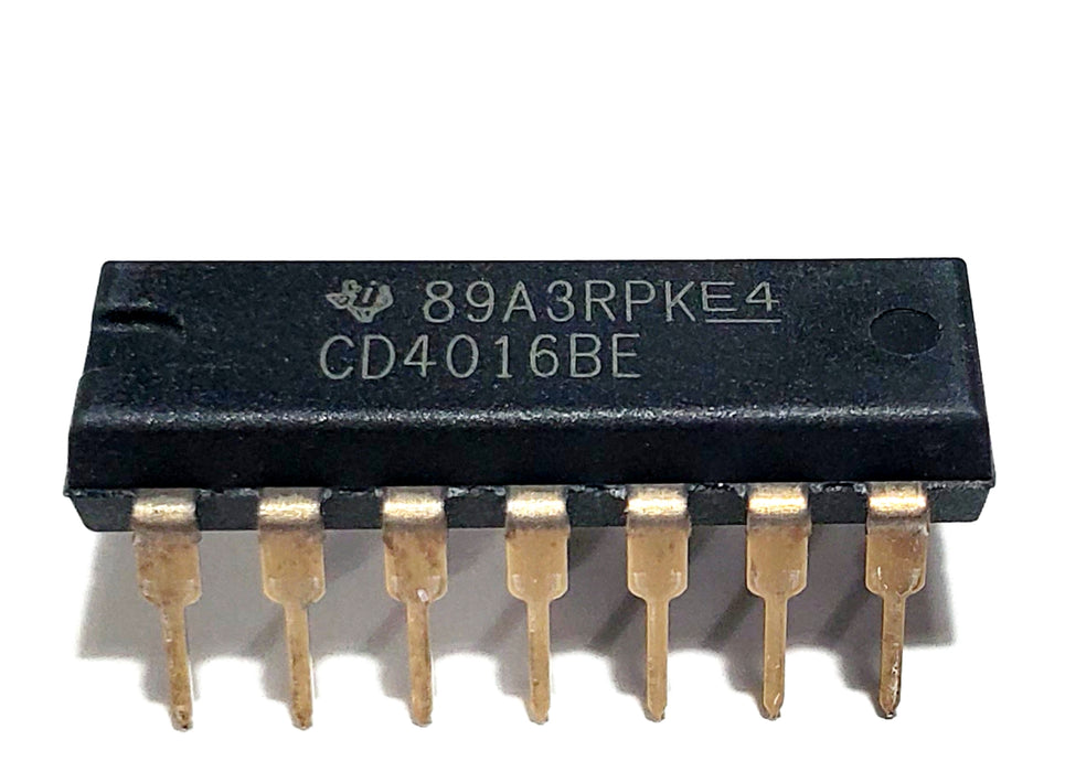 CD4016BE CD4016 4016 100-pA, 20-V, 1:1 (SPST), 4-Channel Analog Switch Breadboard-Friendly IC DIP-14