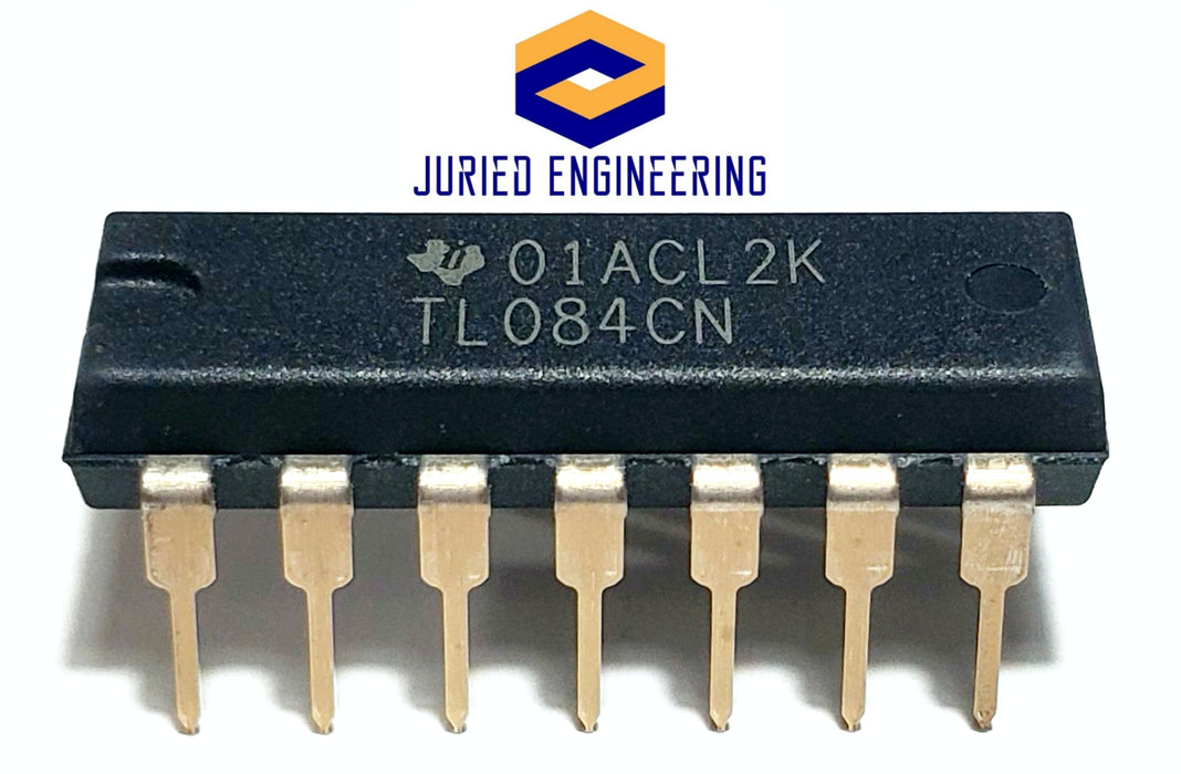 TL084CN TL084 Quad High Slew Rate JFET-Input OP Amp Breadboard-Friendly DIP-14 IC