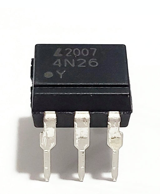 4N26 Optocoupler, Phototransistor Output, with Base Connection Breadboard-Friendly IC DIP-6