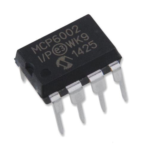 Microchip MCP6002-I/P MCP6002 Dual 1 MHz Operational Amplifier DIP-8 (Pack of 1)