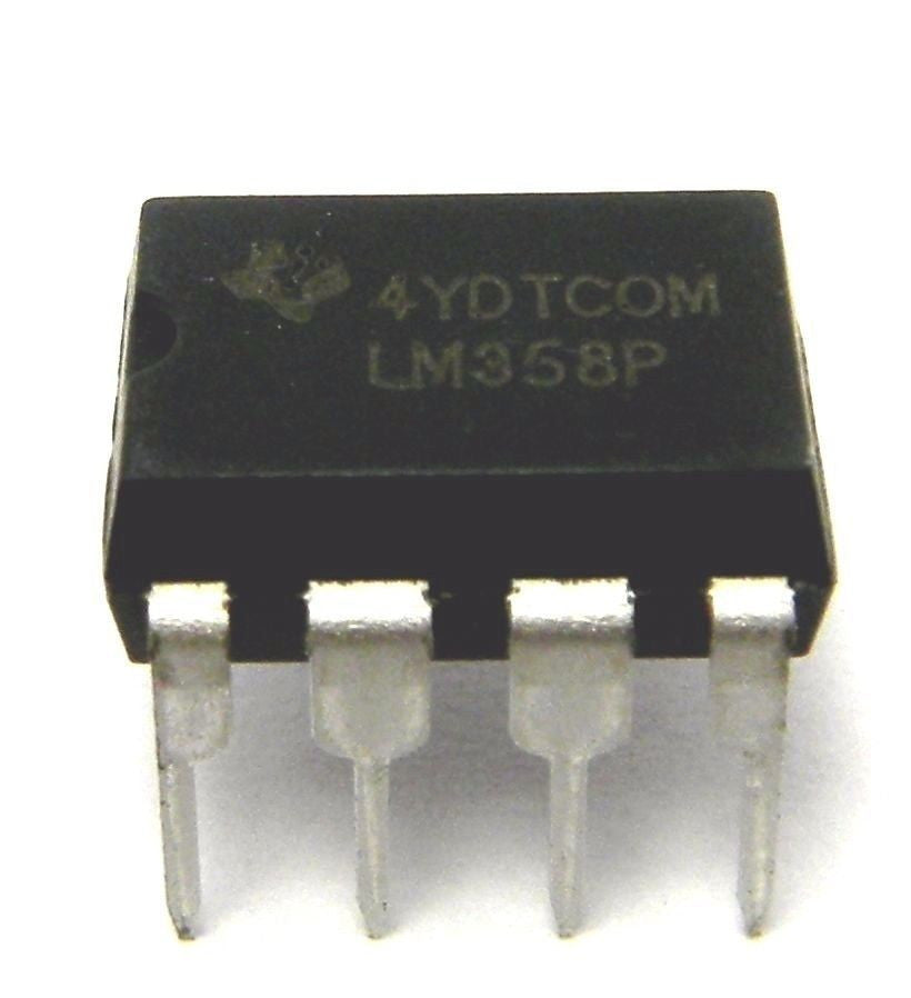 Texas Instruments LM358P LM358N + Sockets Dual Operational Amplifier (Pack  of 1)