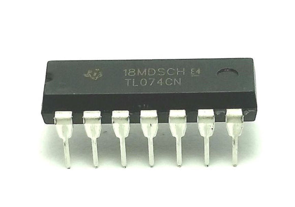 Texas Instruments TL074CN TL074 Quad JFET Operational Amplifier (Pack of 1)