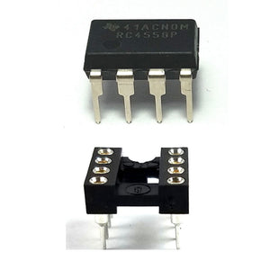 Texas Instruments RC4558 + Socket Dual Operational Amplifier DIP-8 (Pack of 1)
