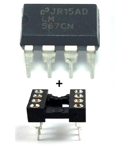 Texas Instruments LM567CN LM567 + Socket - Tone Decoder DIP-8 (Pack of 1)