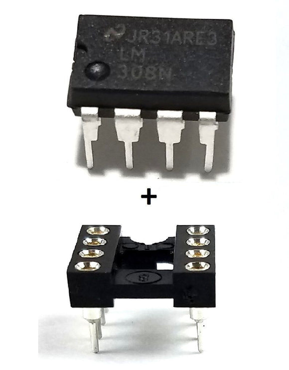LM308N LM308 + Socket - Precision Op Amp (Pack of 1)