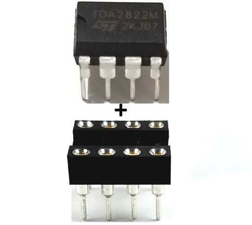 TDA2822M TDA2822 Dual Low Voltage Audio Power Amplifier and Machined DIP Socket Breadboard-Friendly IC DIP-8