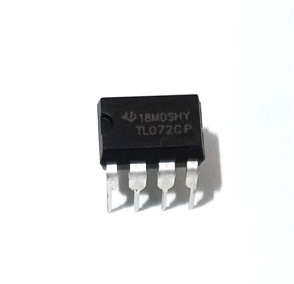 Texas Instruments TL072CP TL072 Low Noise JFET Dual Op-Amp DIP-8 (Pack of 1)