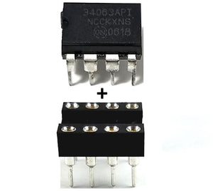 ON Semiconductor MC34063A MC34063 + Socket - Buck Boost Inverting Regulator (Pack of 1)