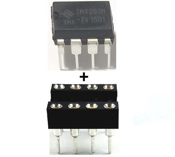 Texas Instruments TL082CP TL082 + Socket - Dual JFET-Input Op Amp (Pack of 1)