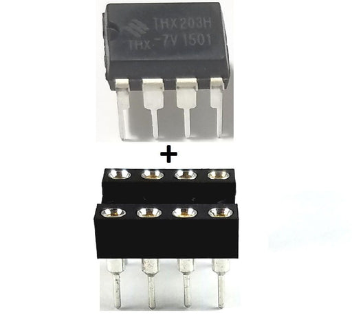 THX203H -7V + Socket Power Management IC PWM DIP-8 (Pack of 1)
