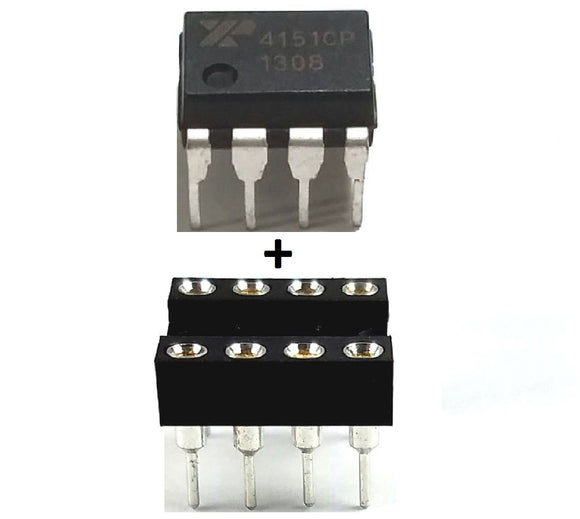 EXAR XR4151CP  XR4151 + Socket Voltage to Frequency Convertor (Pack of 1)