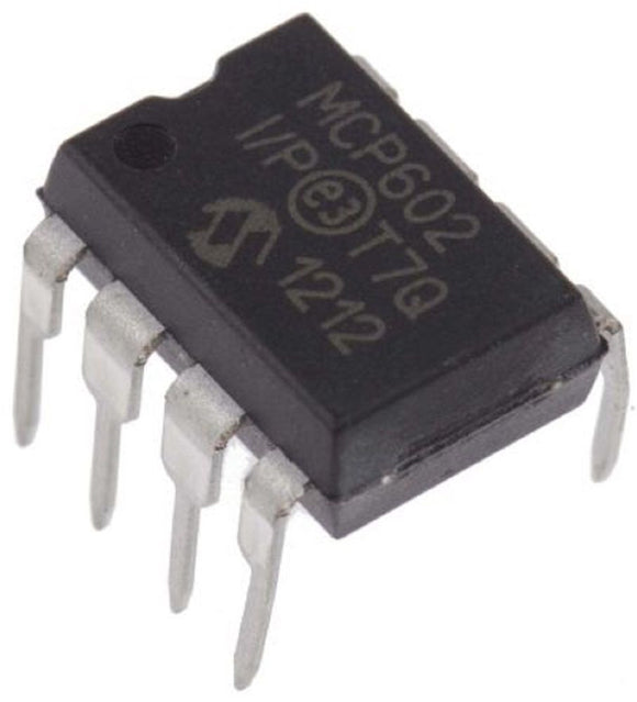 Microchip MCP602-I/P MCP602 Single Supply Dual CMOS Operational Amps (Pack of 1)