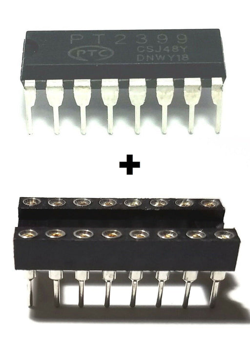 PT2399 Echo Audio Processor Effects Processor IC DIP-16 and Machined DIP Sockets Breadboard-Friendly IC