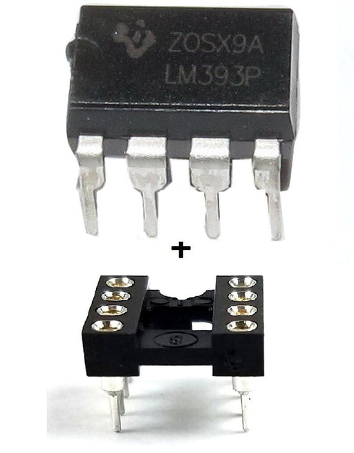 LM393AP Dual Differential Voltage Comparator IC with Sockets