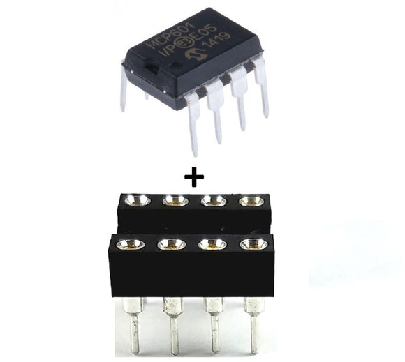 Microchip MCP601-I/P MCP601 + Socket - Single Supply CMOS Operational Amp (1 Piece)