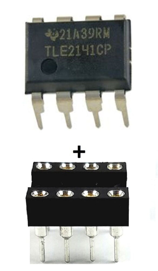 TLE2141CP TLE2141 + Socket Low Noise High-Speed Op Amp IC