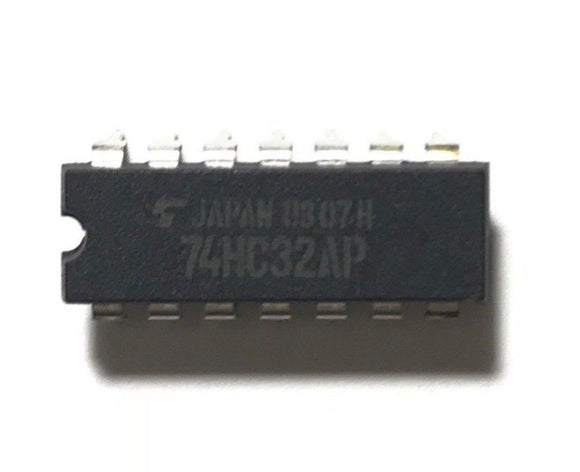 Toshiba 74HC32AP 74HC32 Quadruple 2-Input Positive-OR Gates IC (Pack of 5)