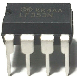 ON Semiconductor LF353N LF353 Dual Wide Bandwidth JFET Input Op-Amp IC (1 Piece)