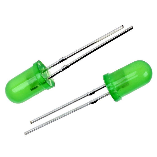 Green LED 5mm Round Wide Angle Diffused LED Light Emitting Diode Bright PCB