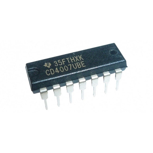 Texas Instruments CD4007UBE CD4007 CMOS Dual Complementary Pair + Inverter (Pack of 5)