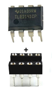 Texas Instruments TLE2141CP TLE2141 + Socket Low Noise High-Speed Op Amp IC (1 Piece)