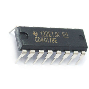 Texas Instruments CD4017BE CD4017 CMOS Decade Counter with 10 Decoded Outputs (Pack of 1)