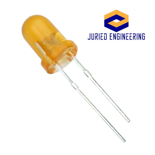 Orange LED 5mm Round Wide Angle Diffused LED Light Emitting Diode Bright PCB