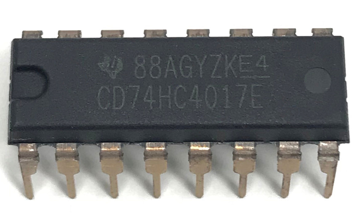 CD74HC4017E CD74HC4017 74HC4017 High Speed CMOS Logic Decade Counter/Divider with 10 Decoded Outputs Breadboard-Friendly IC DIP-16 DIP16