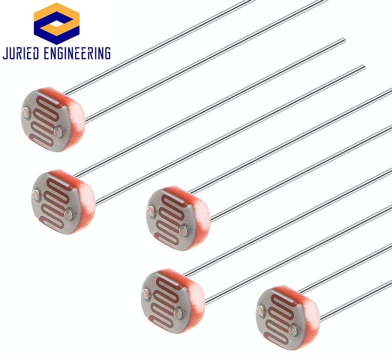 GL Series Photoresistor Kit (5) GL5506, (5) GL5516, (5) GL5528, (5) GL5537, (5) GL5539, (5) GL5549 Photo Light Sensitive Resistor Kit of 30 Pieces