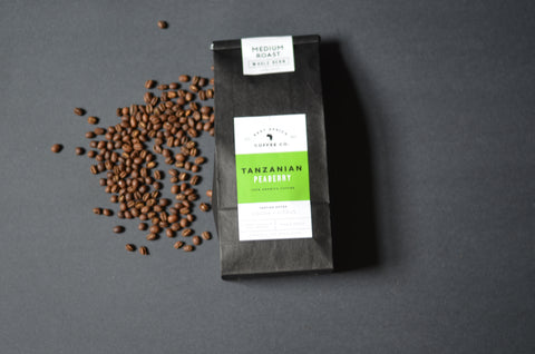 Tanzanian Peaberry Coffee, Medium Roast, One Pound