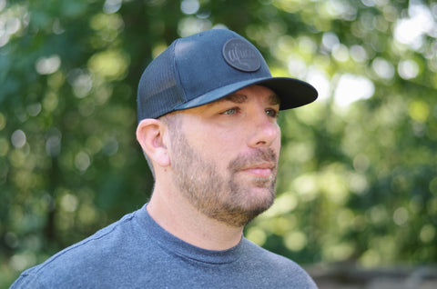 Curved Trucker Logo Hat