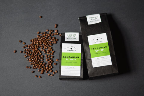 Tanzanian Peaberry Coffee, Medium Roast, Half Pound