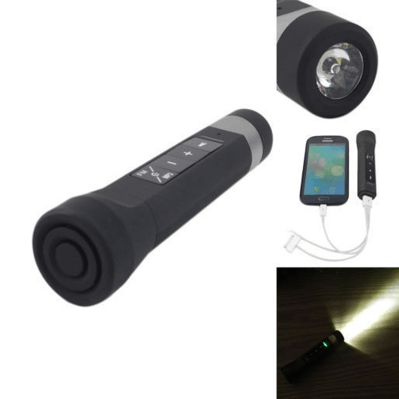 8% off a Multi-Functional Bluetooth Speaker + Flashlight + Power Bank (  Value $ 8.8 ) Taxes Included