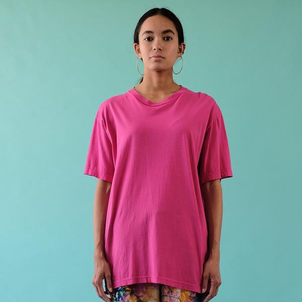 30'S SOFT COTTON SHORT SLEEVE TEE - AZALEA
