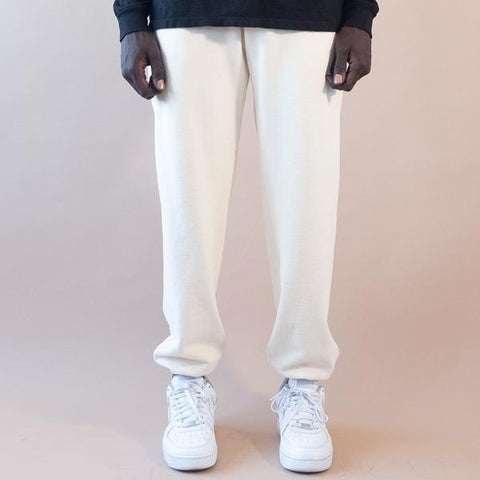 WHITE SMOKE - 20 OZ HEAVY FLEECE UNISEX JOGGER WITH ELASTIC BOTTOM CUFFS