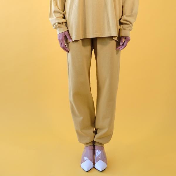MIST YELLOW - 20 OZ HEAVY FLEECE UNISEX JOGGER WITH RIB CUFF