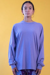 18'S COTTON LONG SLEEVE TEE - ASTER PURPLE