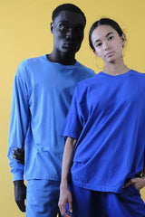 18'S COTTON LONG SLEEVE TEE - FRENCH BLUE