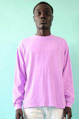 18'S COTTON LONG SLEEVE TEE - NEON LAVENDER